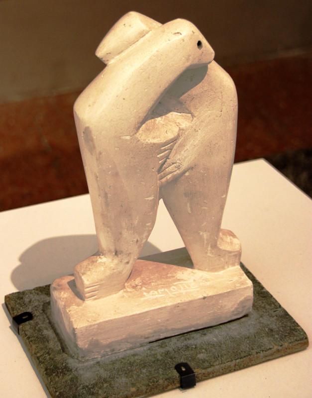 Les deux phoques- Plâtre patiné- 1957- Ph: Ch Sellez