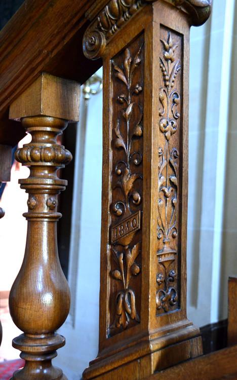 Balustre de l'escalier d'honneur