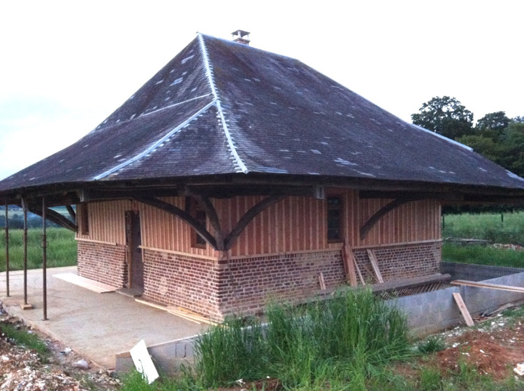Une grange-pagode à Yaucourt-Bussus, avant restauration