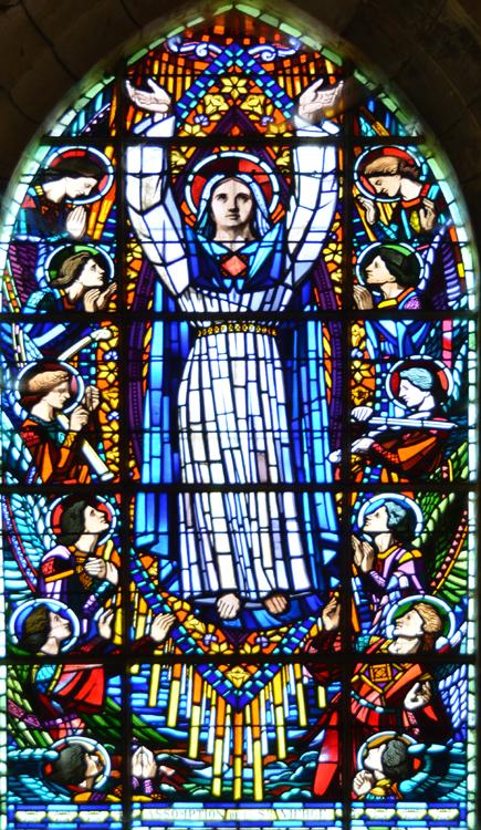 L'Assomption du maître-verrier Georges Sagot dans l'église d'Herleville