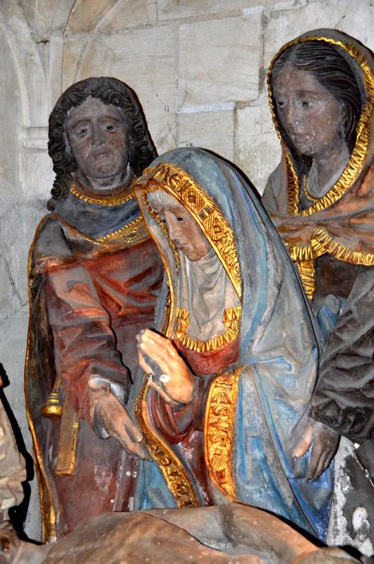 La Vierge entre Saint-Jean et un e sainte femme