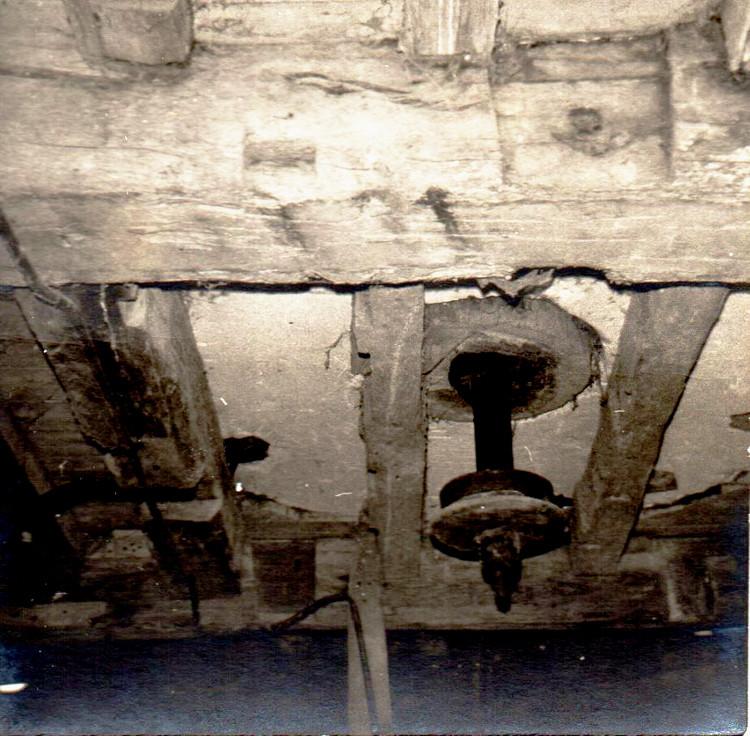 L'intérieur du moulin à vent de Vaudricourt