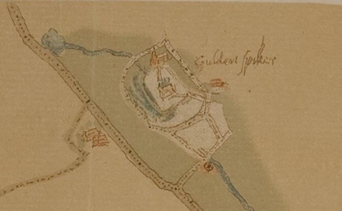 Oudste kaart van Arnhem uit 1560 door Jacob van Deventer. Bron: Gelders Archief