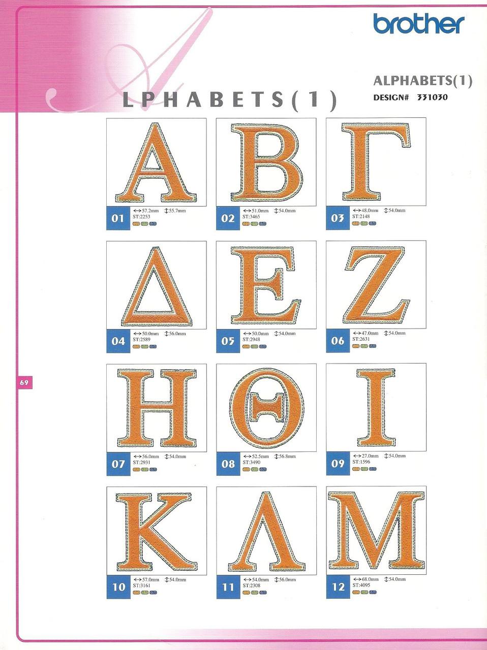 331030 Alphabets I-2