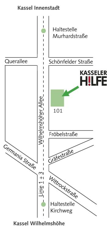 Lageplan KASSELER H!LFE