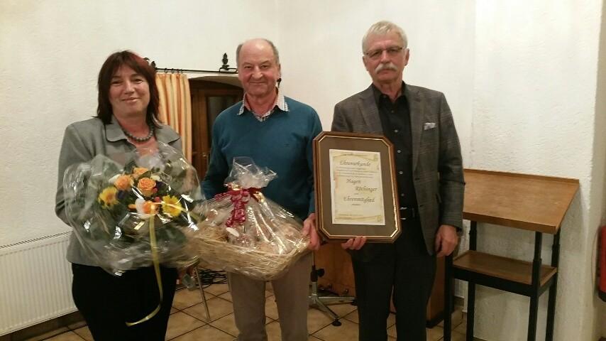 Marianne Vogel, Ehrenmitglied Hagen Röthinger, Edwin Bucher