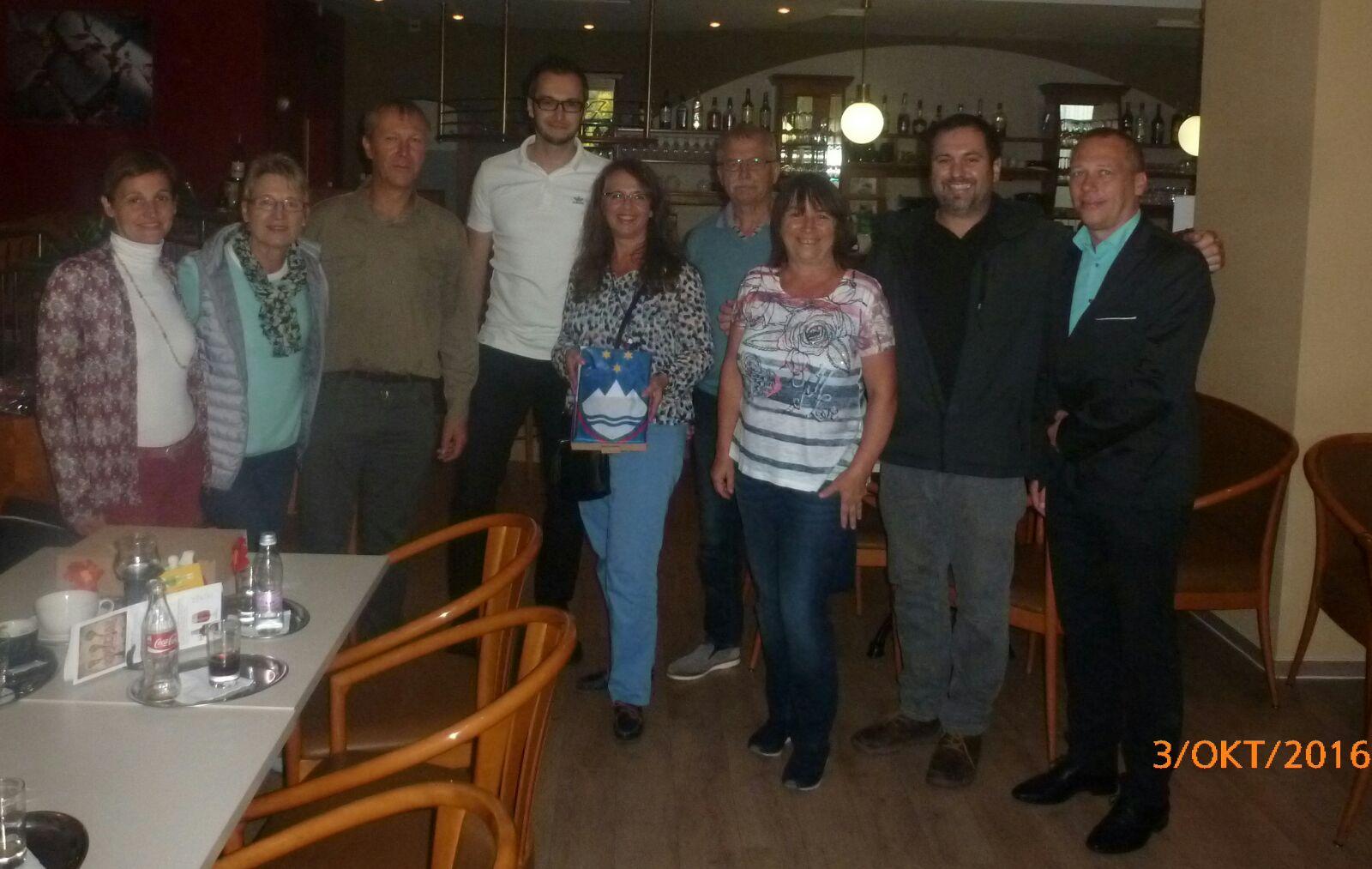 Abschiedsbild mit unseren slowenischen Freunden