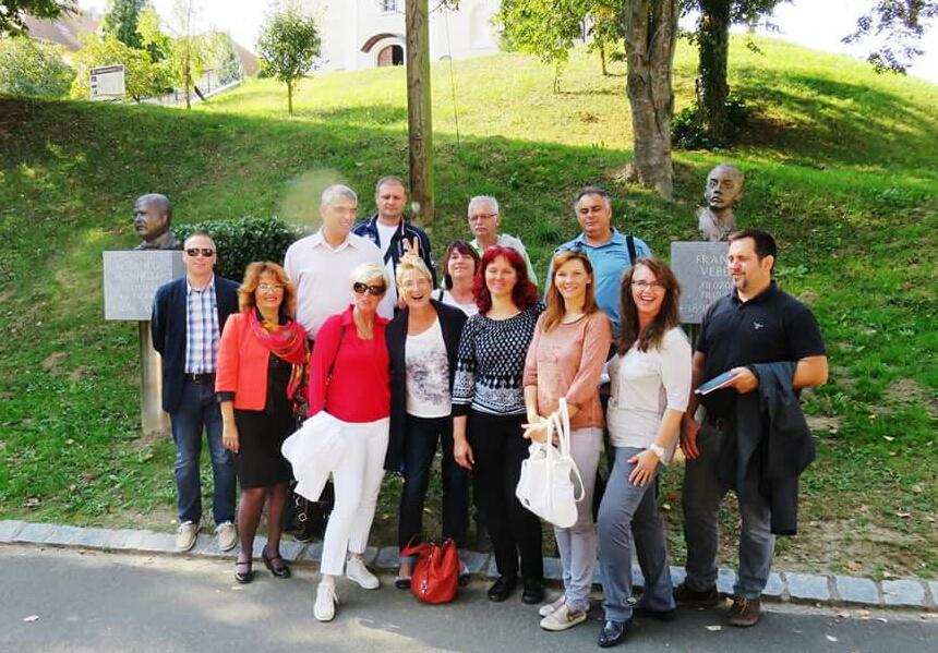 Gruppenbild: Slowenien - Deutschland und Serbien