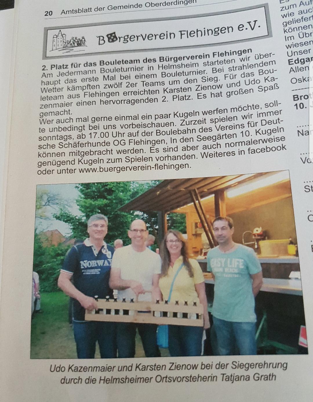 im Amtsblatt von Oberderdingen 😎
