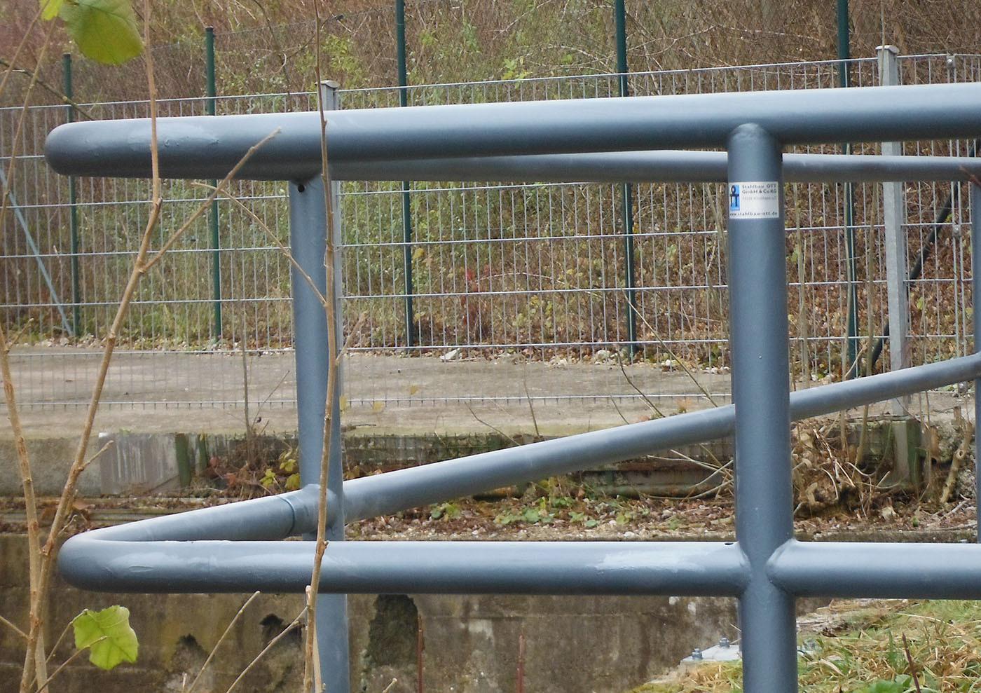Brückengeländer am Giessnaubach Kirchheim Teck