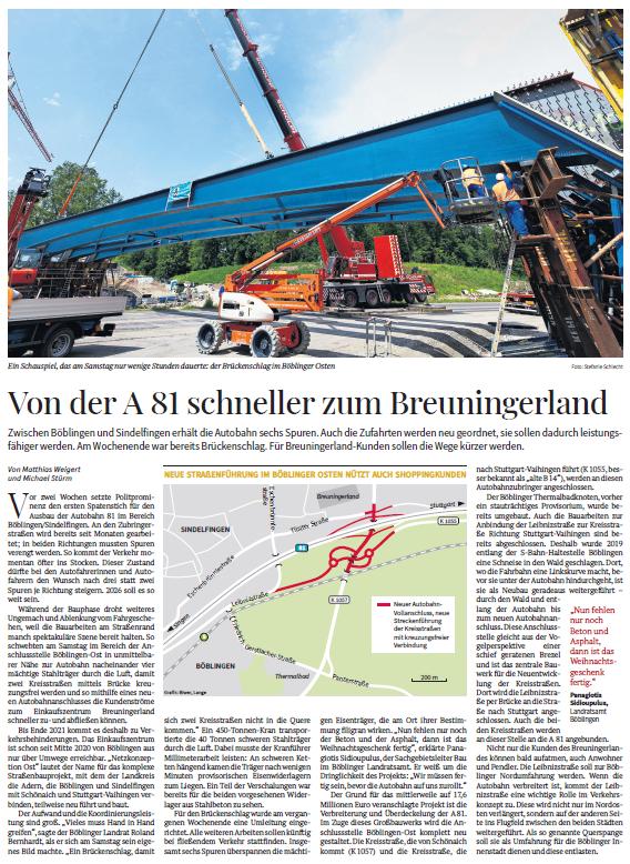 Böblinger Bote/Stuttgarter Zeitung Autoren: Matthias weigert und Michael Stürm