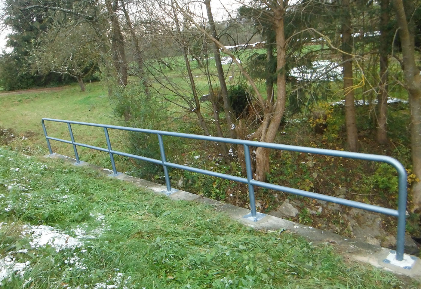 Brückengeländer Tobeldurchlass bei Süssen
