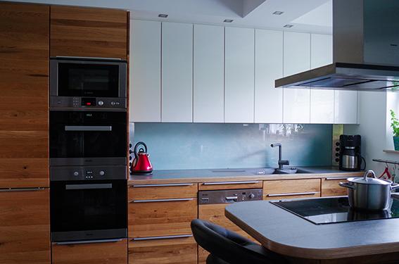 Fertig eingebaute Küche
