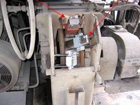 Adhesive bloc and wheel flange lubrication