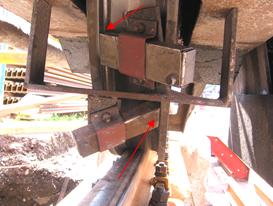 Wheel flange lubrication on outdoor crane