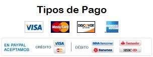 Tipos de Pago PayPal Crédito Visa MasterCard Discover American Express Débito BBVA Bancomer Banamex Banorte HSBC Santander