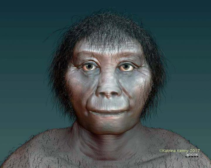 This is an artist's impression of Homo floresiensis. Credit: Katrina Kenny, SA Museum.