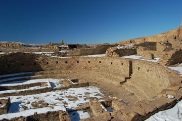 Pueblo Bonito largest great house in Chaco Canyon.