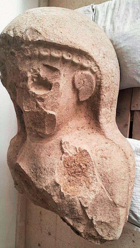 Neo-Hittite Iron Age female statue Turkey archaeology