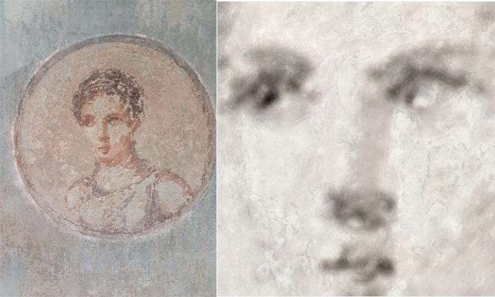 archaeology ancient roman painting XRF reveals image
