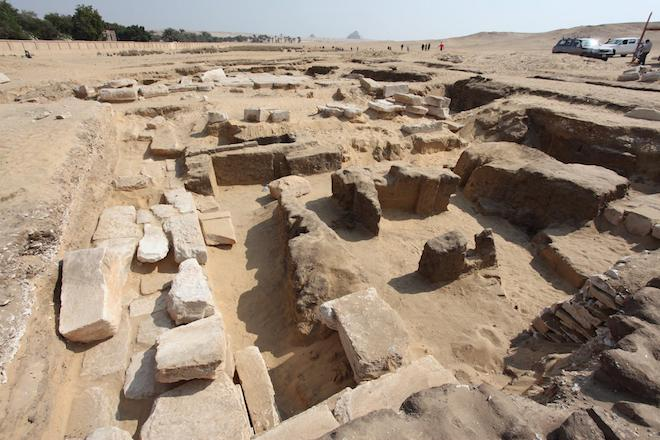 Temple to Ramses II excavated in Abusir Egypt