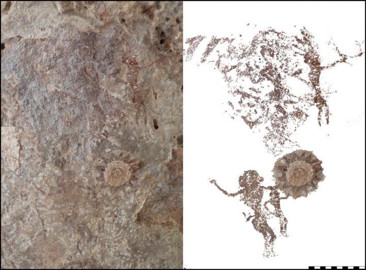 Rock art found on Kisar Island depicting people gesturing