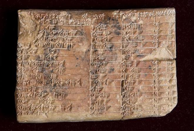 Babylonian tablet trigonometry