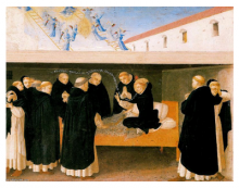 The death of St. Dominic (fra Angelico)