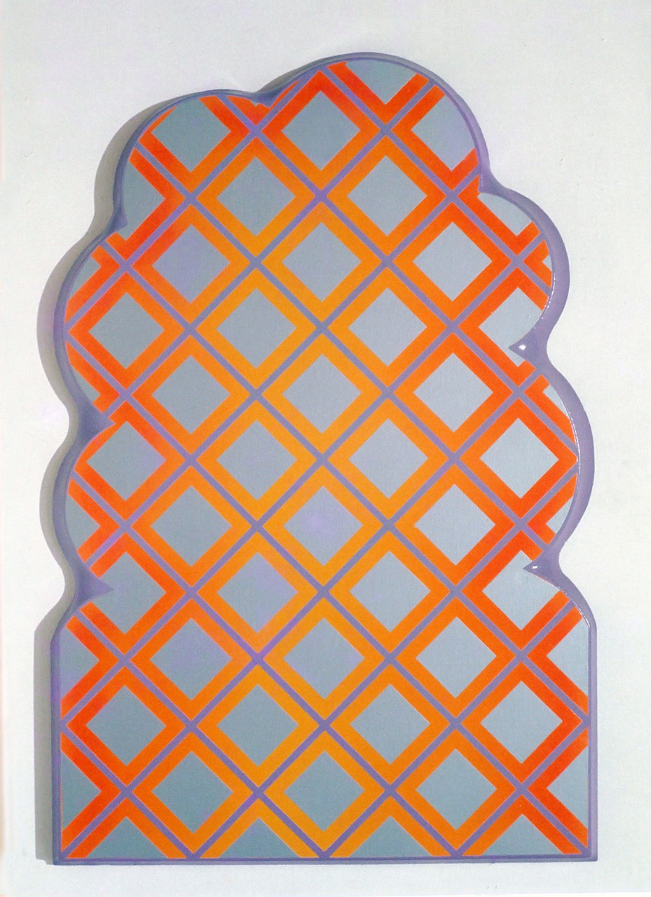 CROSS WORK 68-5 1968 Oil on shaped canvas 120x82cm