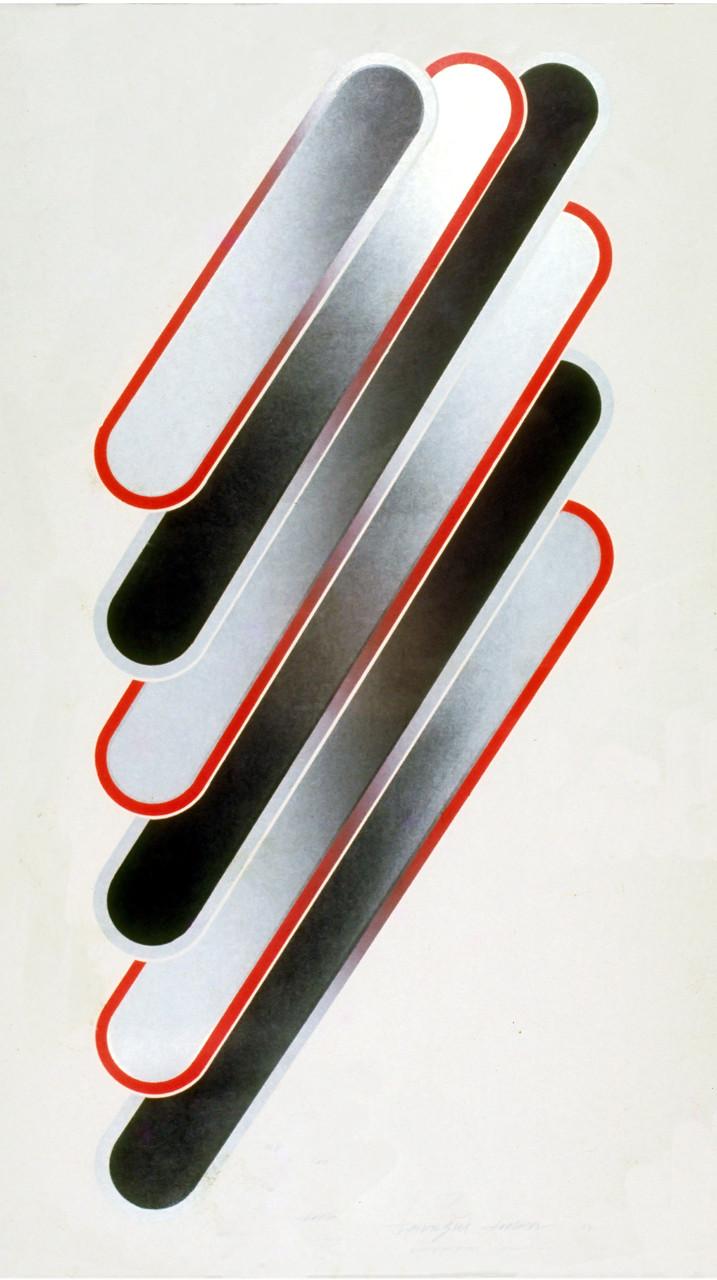 GRADUATION 71-1 1972 Lithograph 91x51cm ED.30