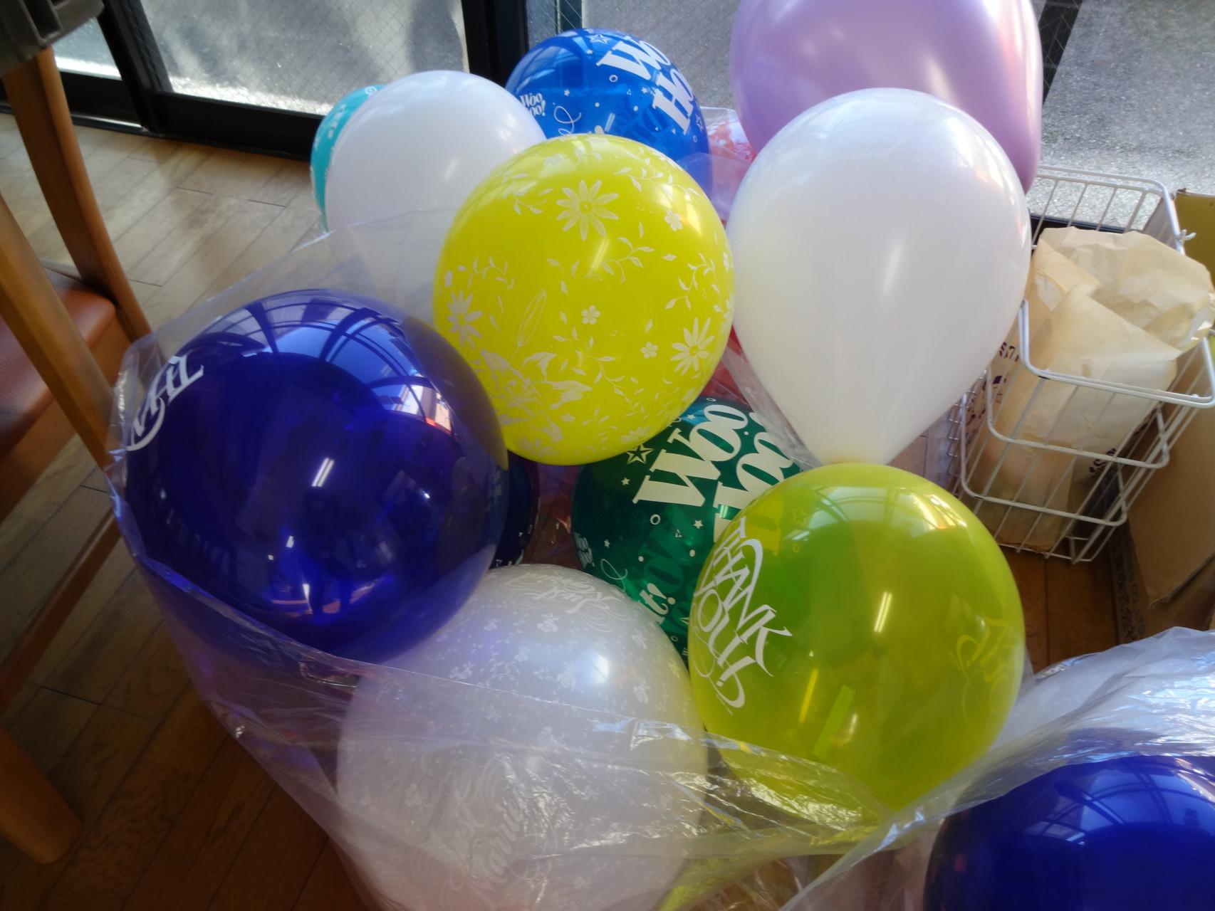 アニモまつりでお世話になった「おちゃぴいほりこし」さんからプレゼントで頂いた風船