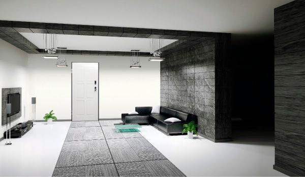 bloc porte anti effraction au ras du mur italian style esth tique et s curit. Black Bedroom Furniture Sets. Home Design Ideas