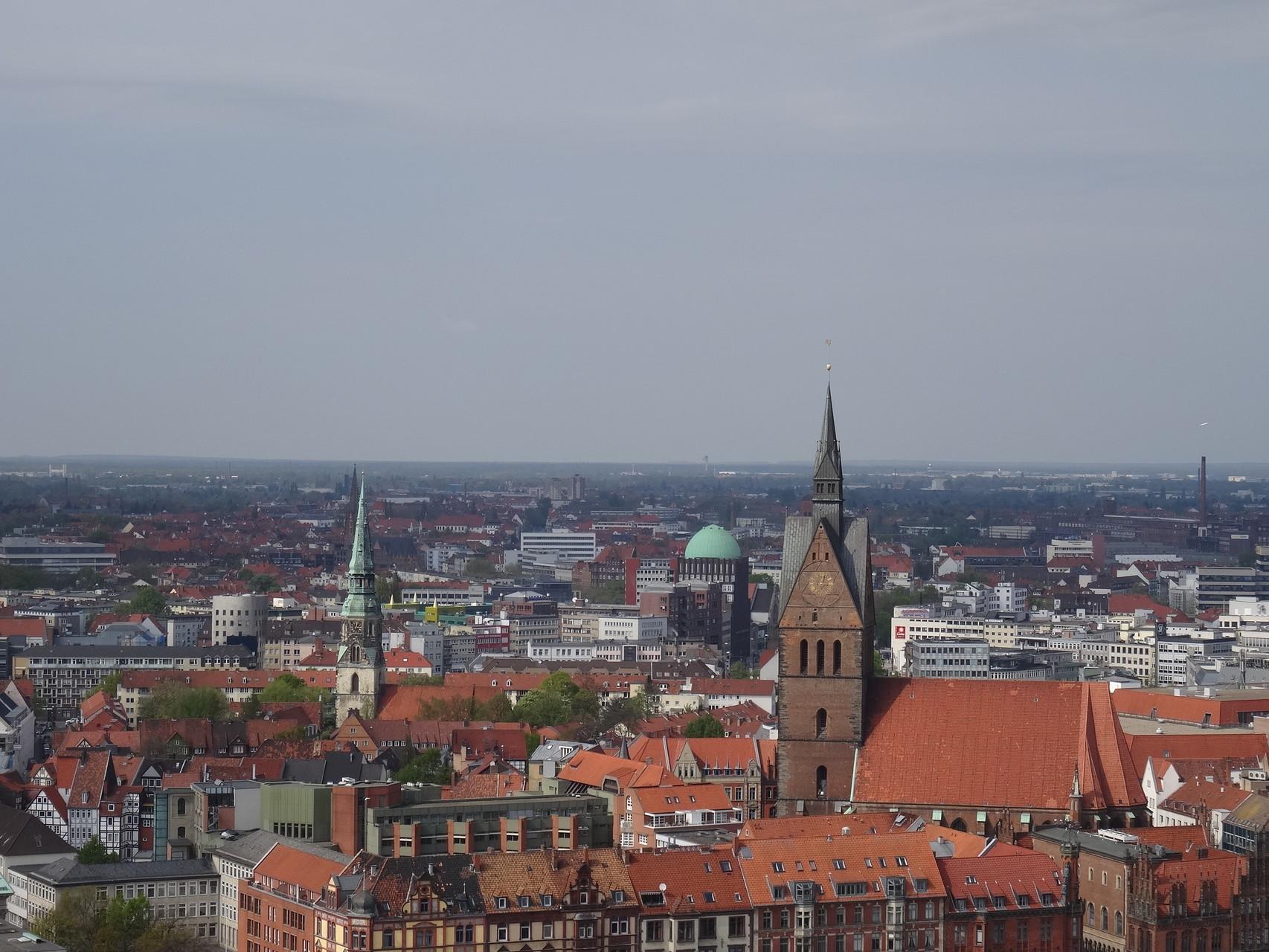 Ausblick über Hannover