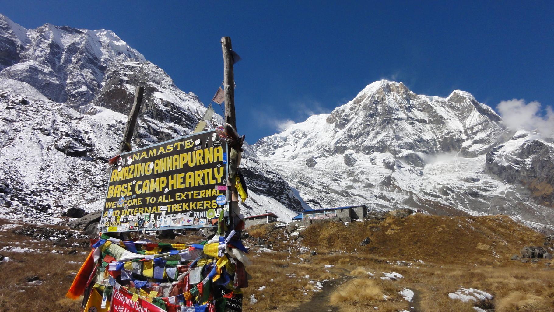 Im Annapurnamassiv...