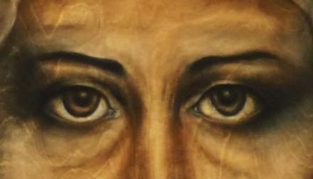 Göz protezi-sanat eseri Noah Bach tarafından boyanmış