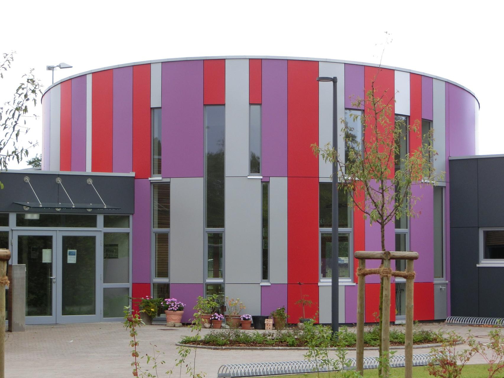 Fassadenverkleidung in Trespa