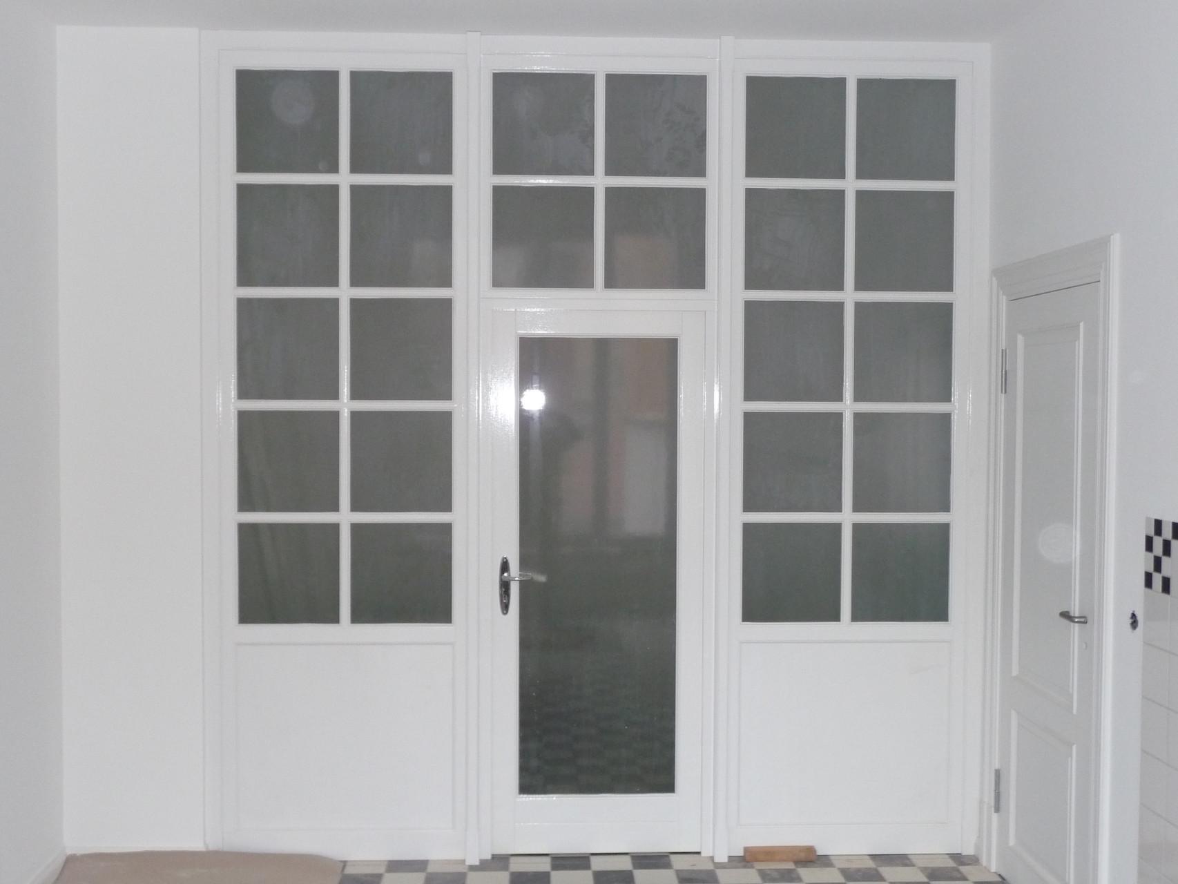Holz-Trenn-Element weiß