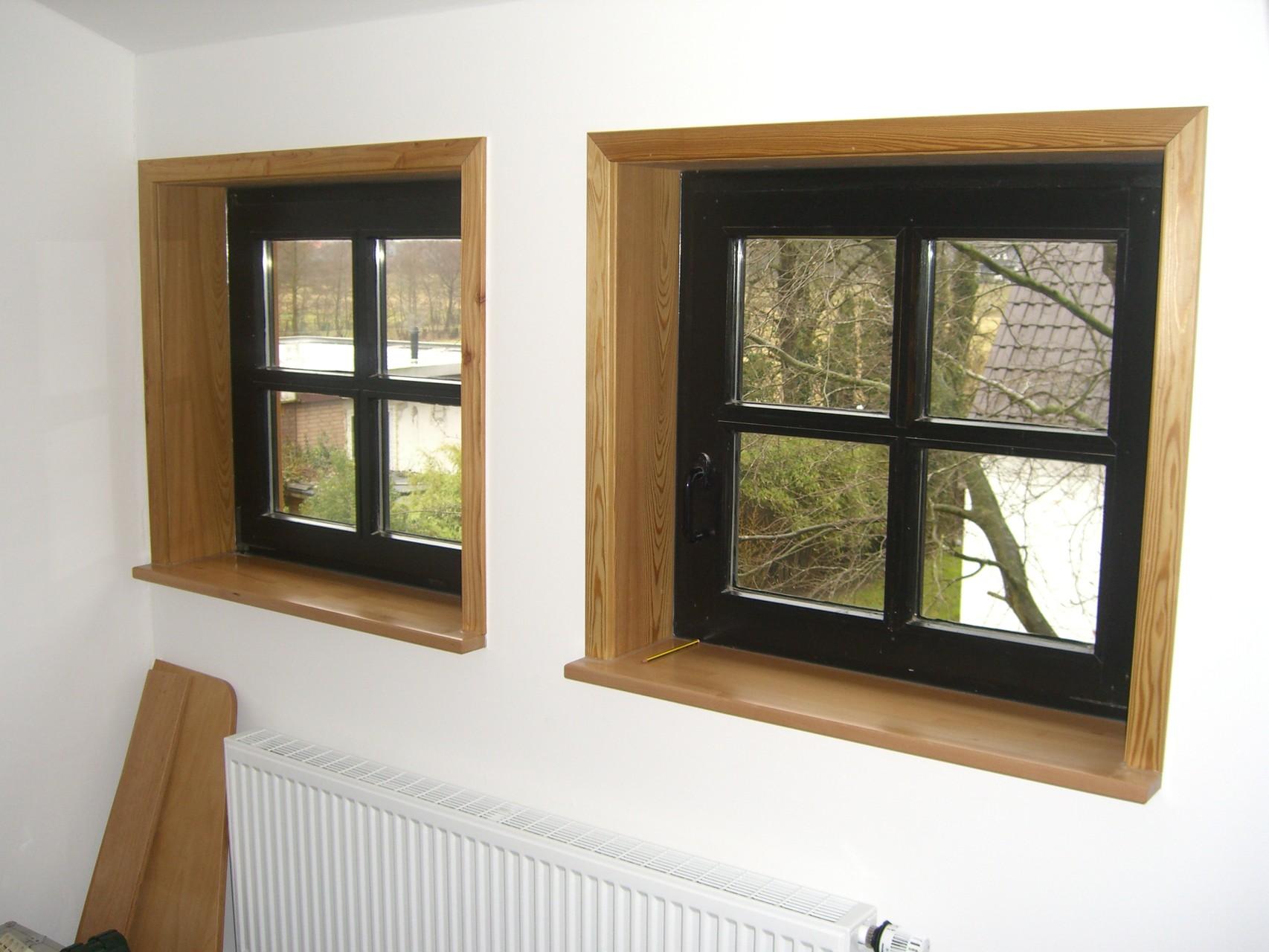 Fenster mit Futter und Bekleidung