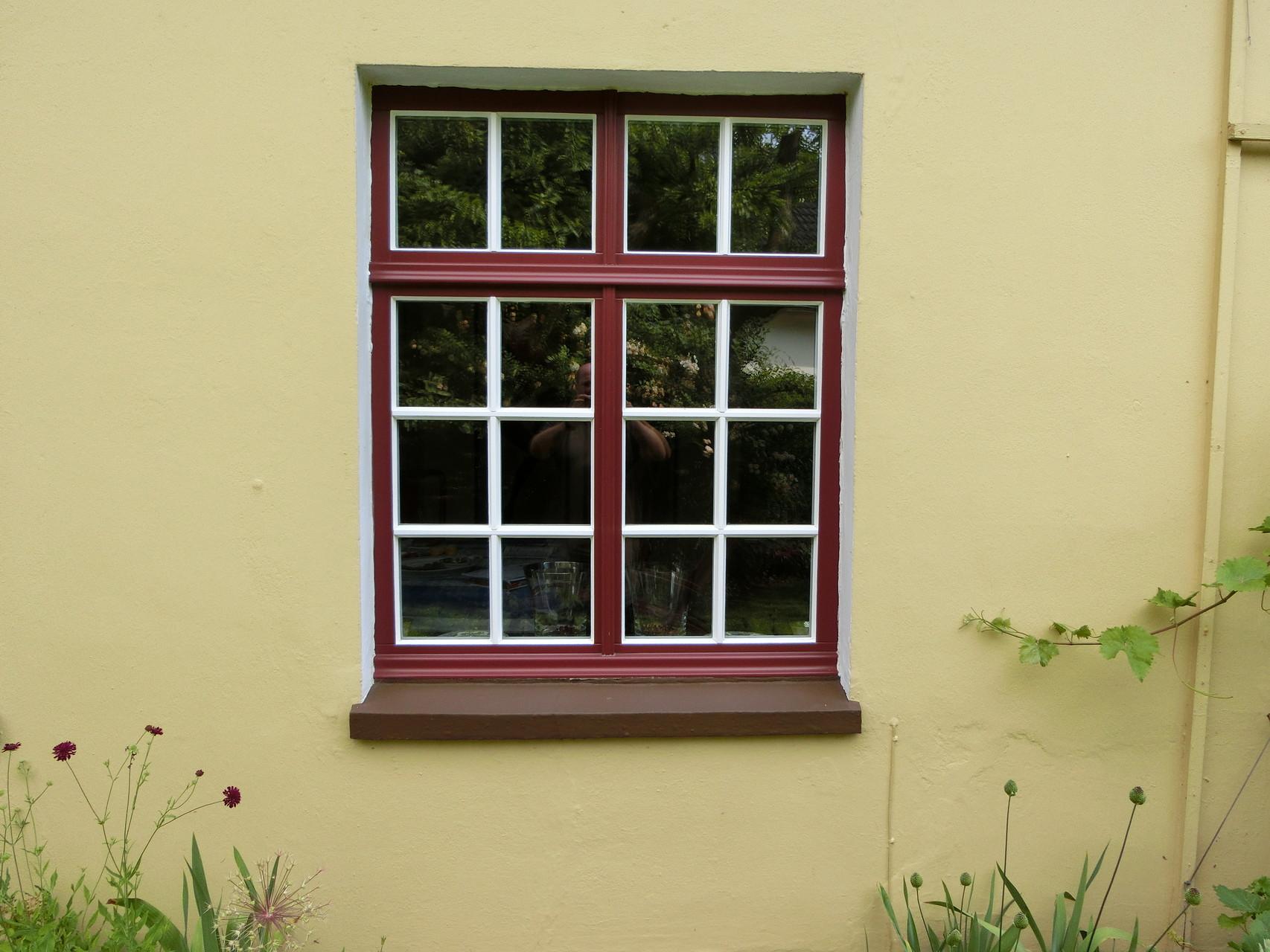 Holzfenster mit Sprossen nach Original