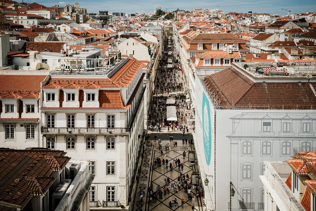 Einkaufsmeile Lissabon