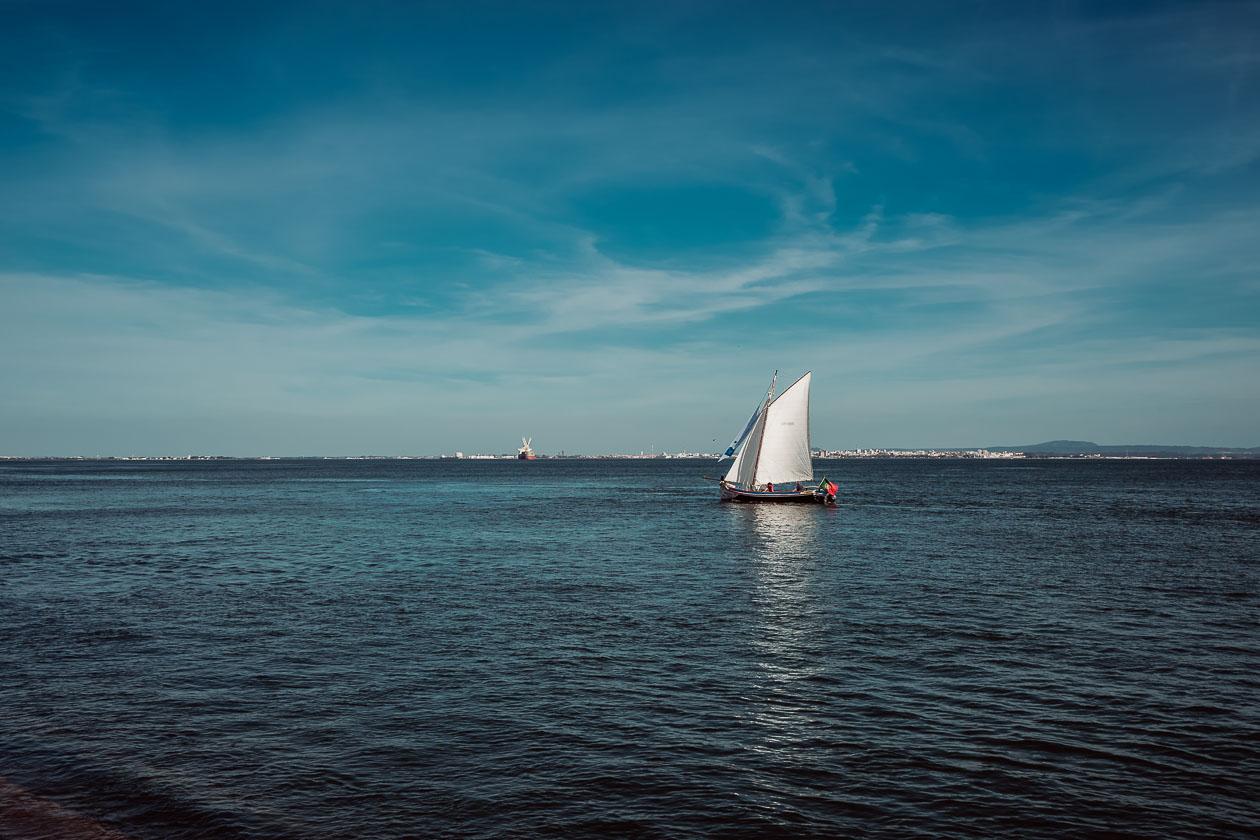Segelboot Lissabon