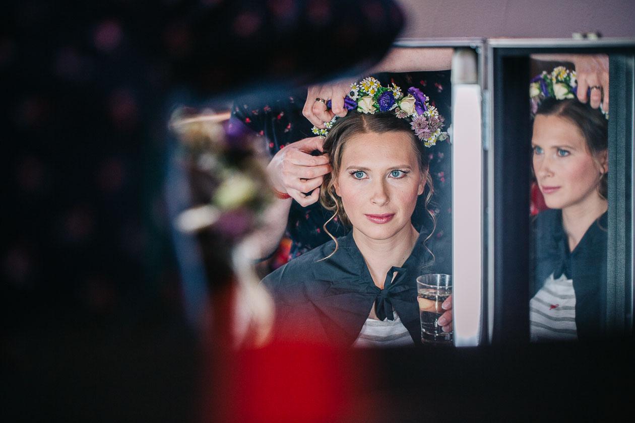 Braut Getting Ready - Hochzeitsfotograf Dresden