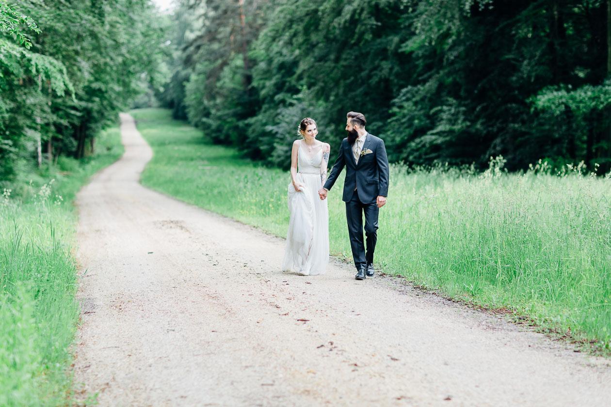 Brautpaar Waldhochzeit
