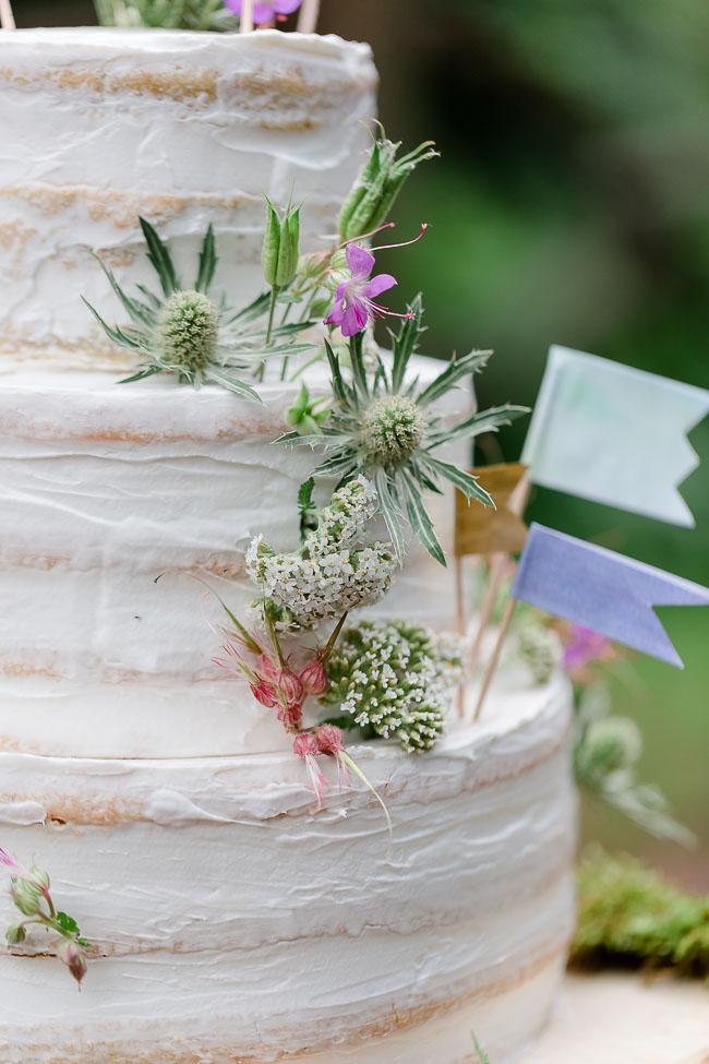 Hochzeitstorte Naked Cake Waldhochzeit