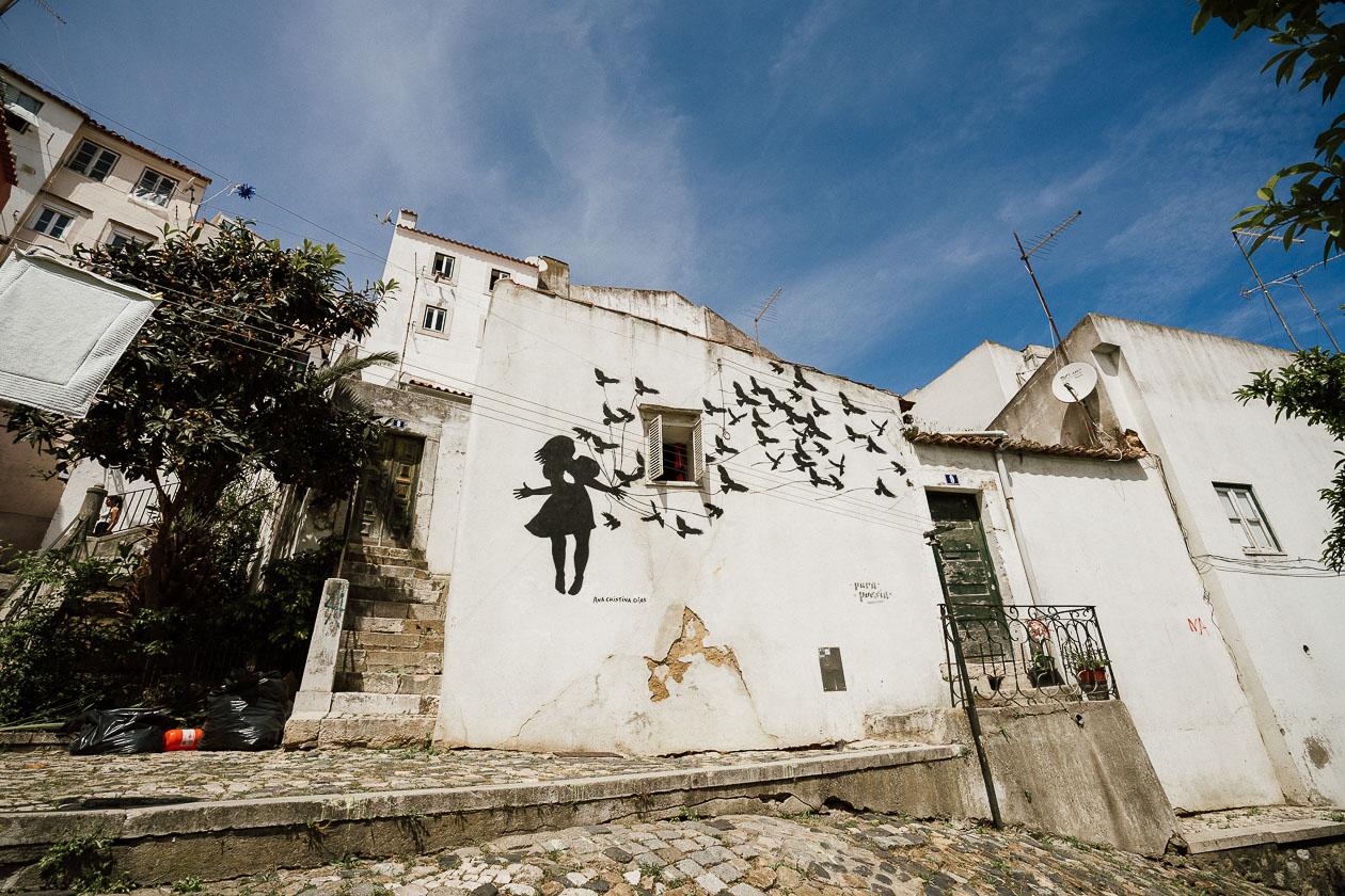 Wandbild Lissabon