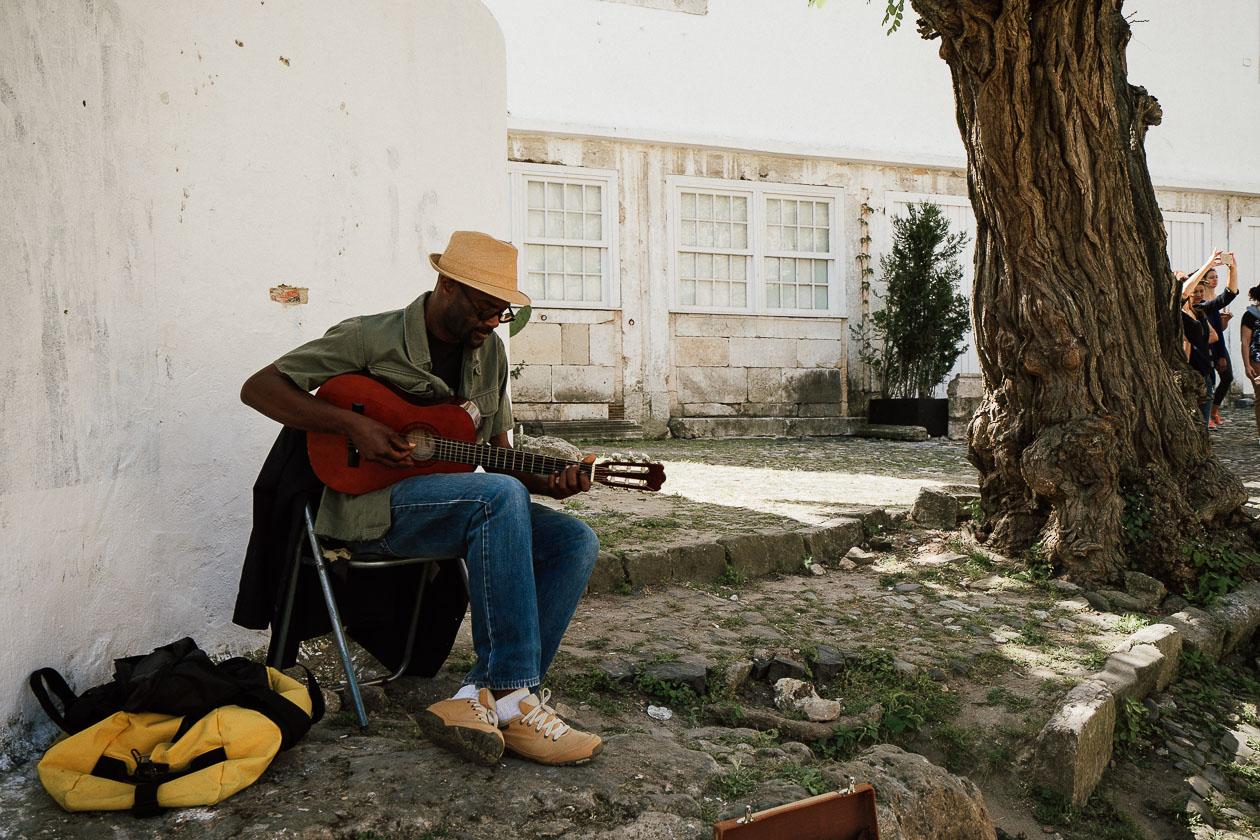 Straßenmusiker Lissabon