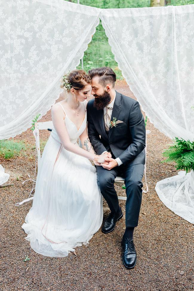 Brautpaarshooting Waldhochzeit
