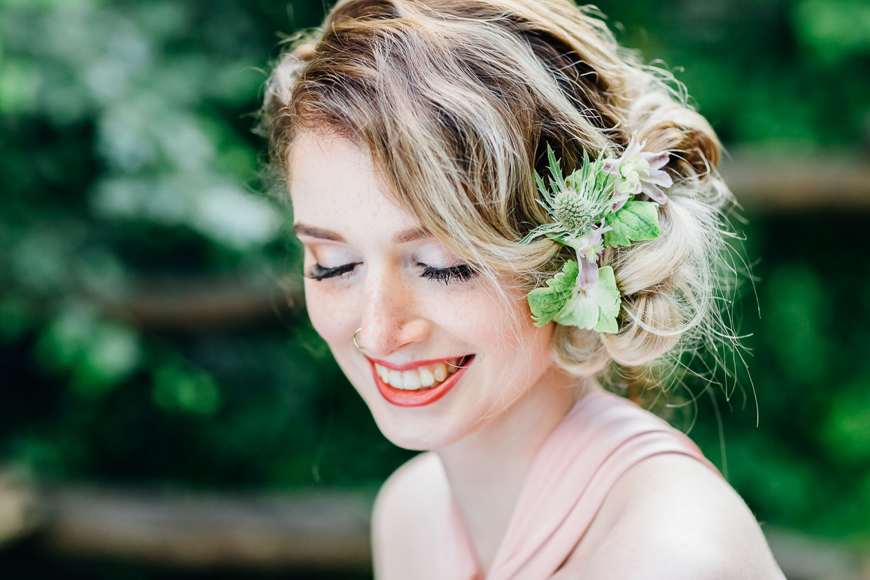 Braut Waldhochzeit