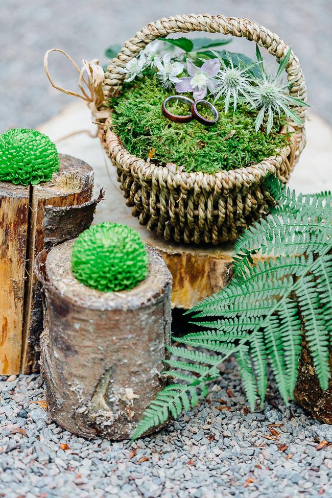 Holzringe Waldhochzeit