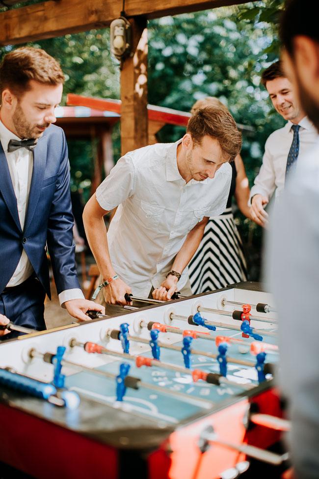 Kickern Hochzeit Saloppe